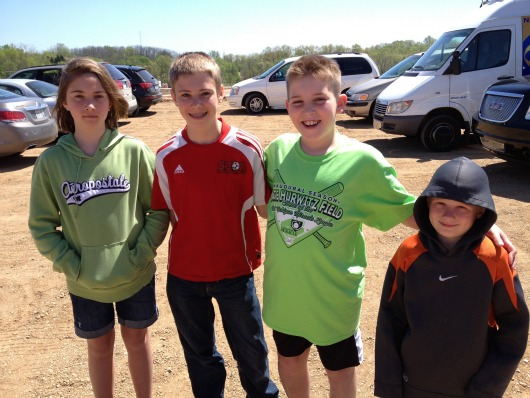 Three of our kids with Spencer